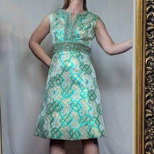 Vintage Celtic beaded dress by Jack Liebmon